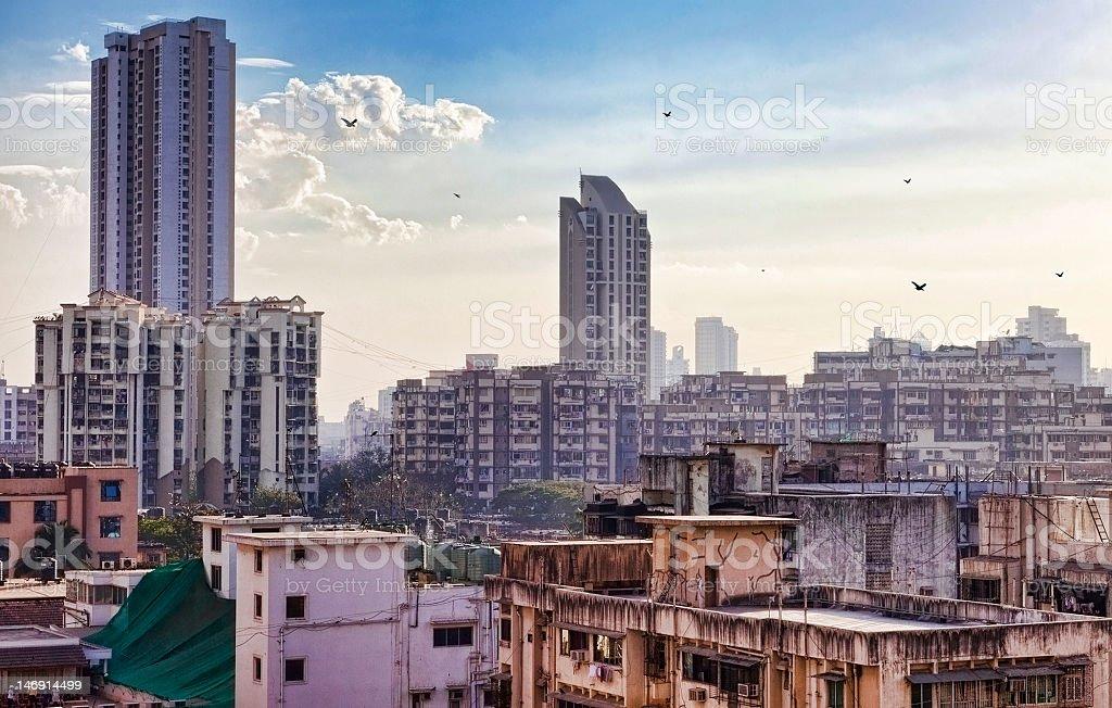 Skyline of Mumbai, India stock photo