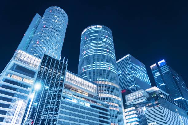 Skyline der Stadt Nagoya, Japan – Foto