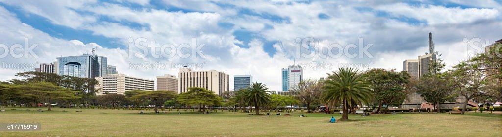 skyline of Nairobi stock photo