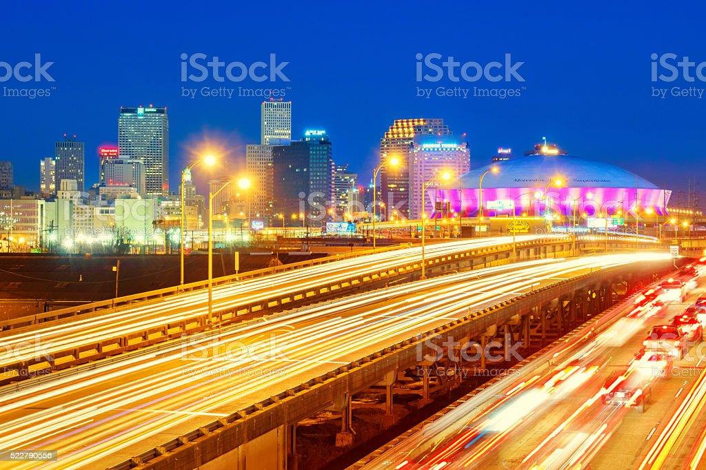 Skyline of New Orleans Louisiana USA stock photo