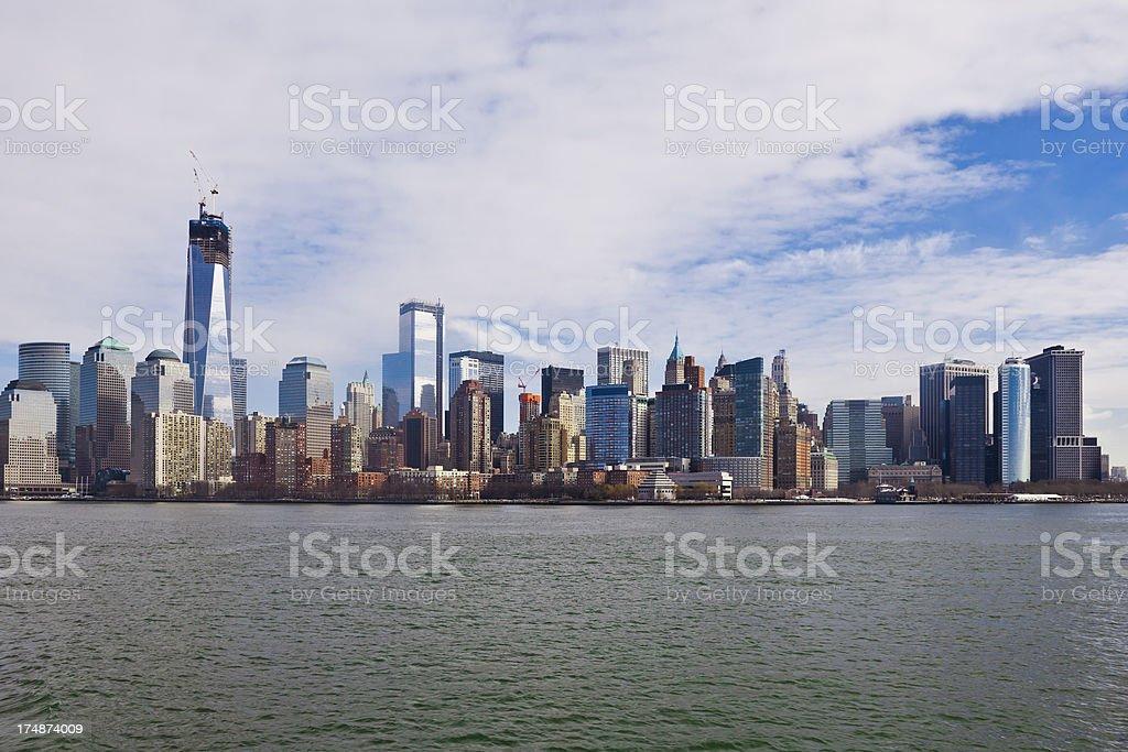 Skyline of New York City royalty-free stock photo