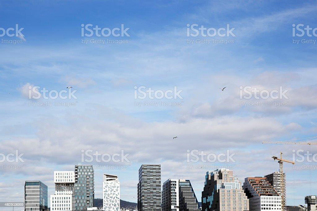 Skyline of Oslo . royalty-free stock photo