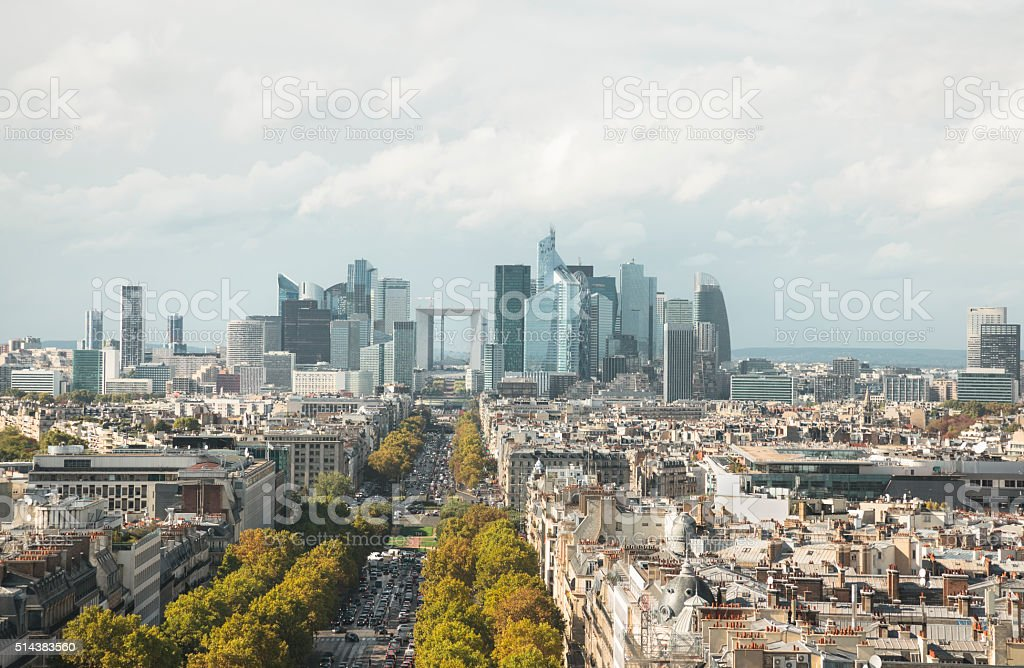 Skyline of Paris (Paris, France) stock photo