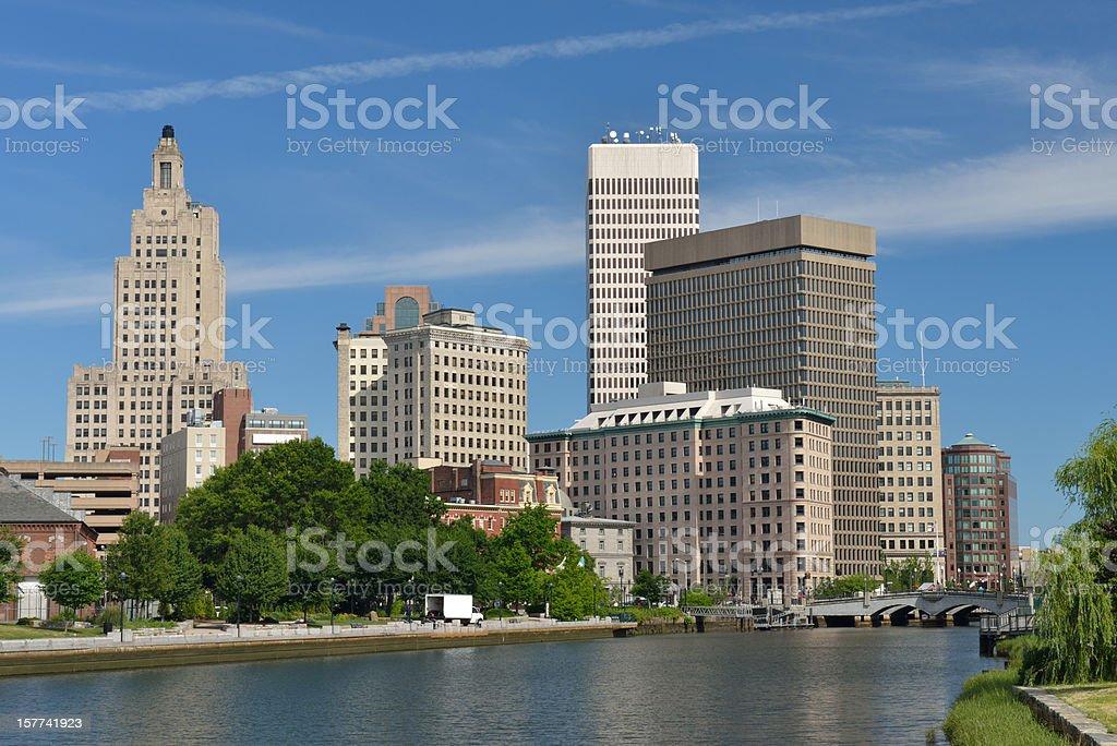 Skyline of Providence stock photo