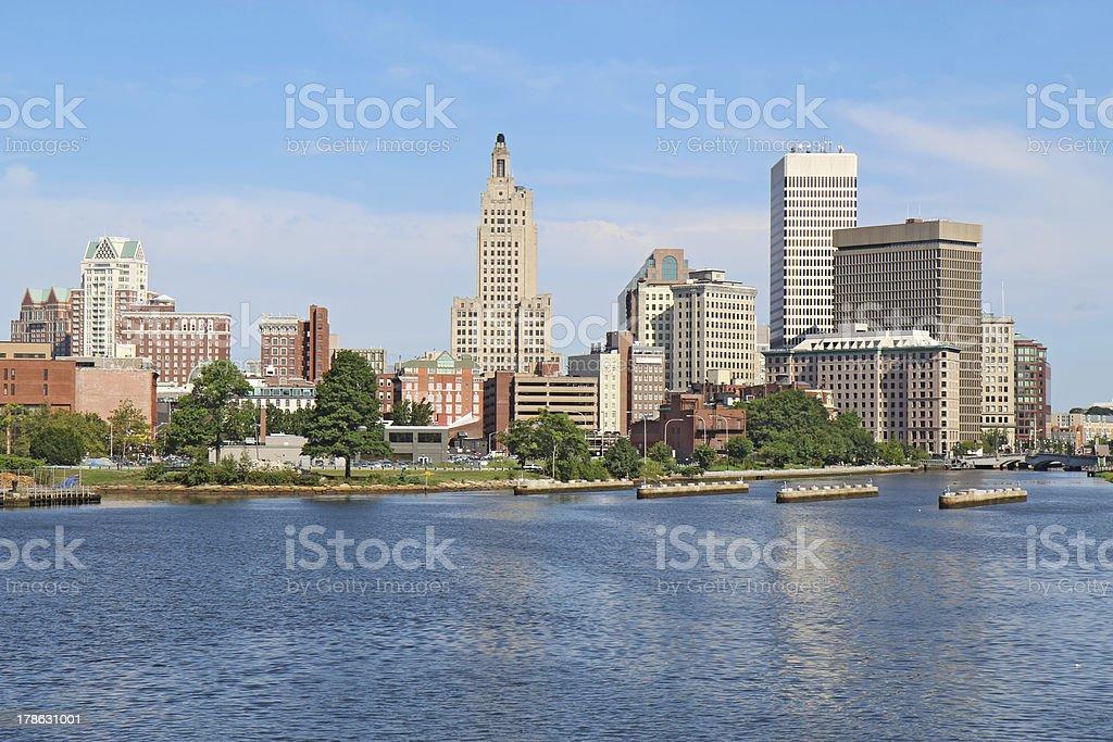 Skyline of Providence, Rhode Island stock photo