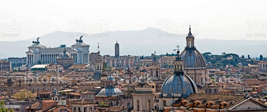 Skyline of Rome royalty-free stock photo