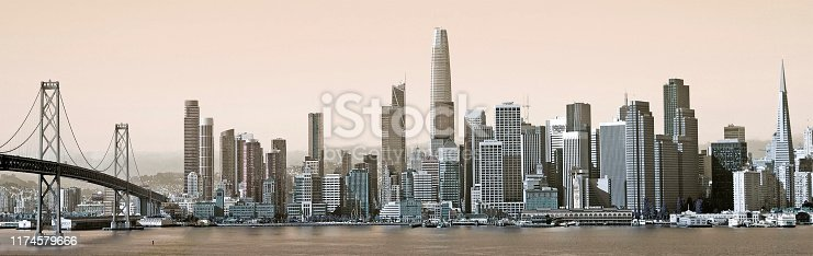 Skyline of San Francisco from the other side of the river