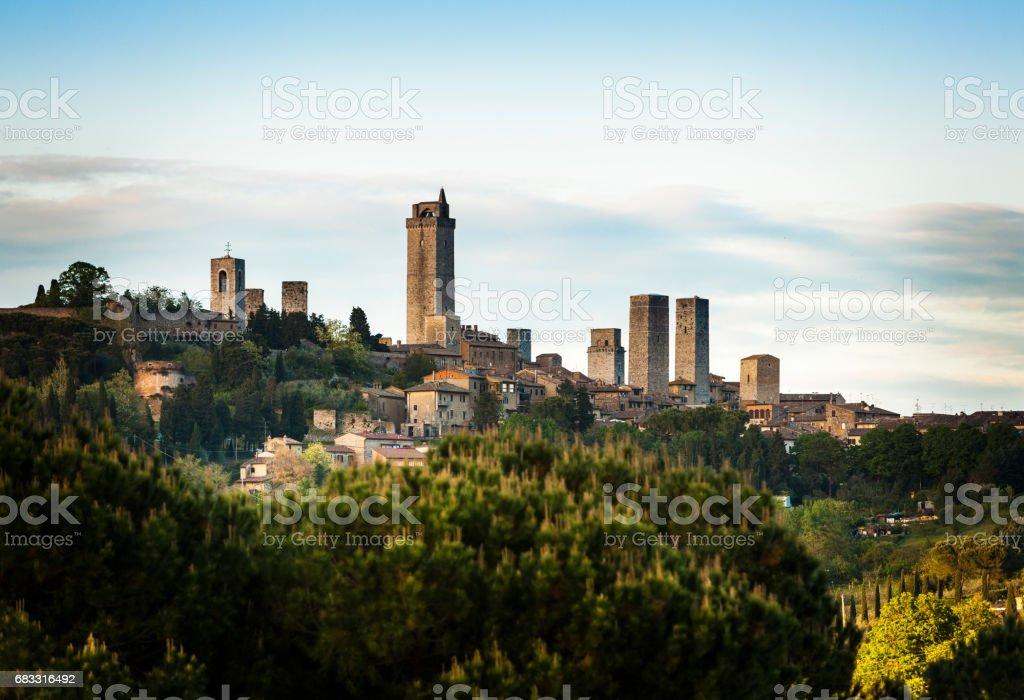 Skyline of San Gimignano, Italy foto stock royalty-free