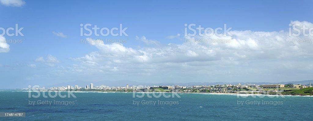 Skyline of San Juan, Puerto Rico royalty-free stock photo