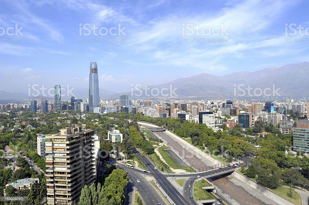 Skyline of Santiago, Chile stock photo