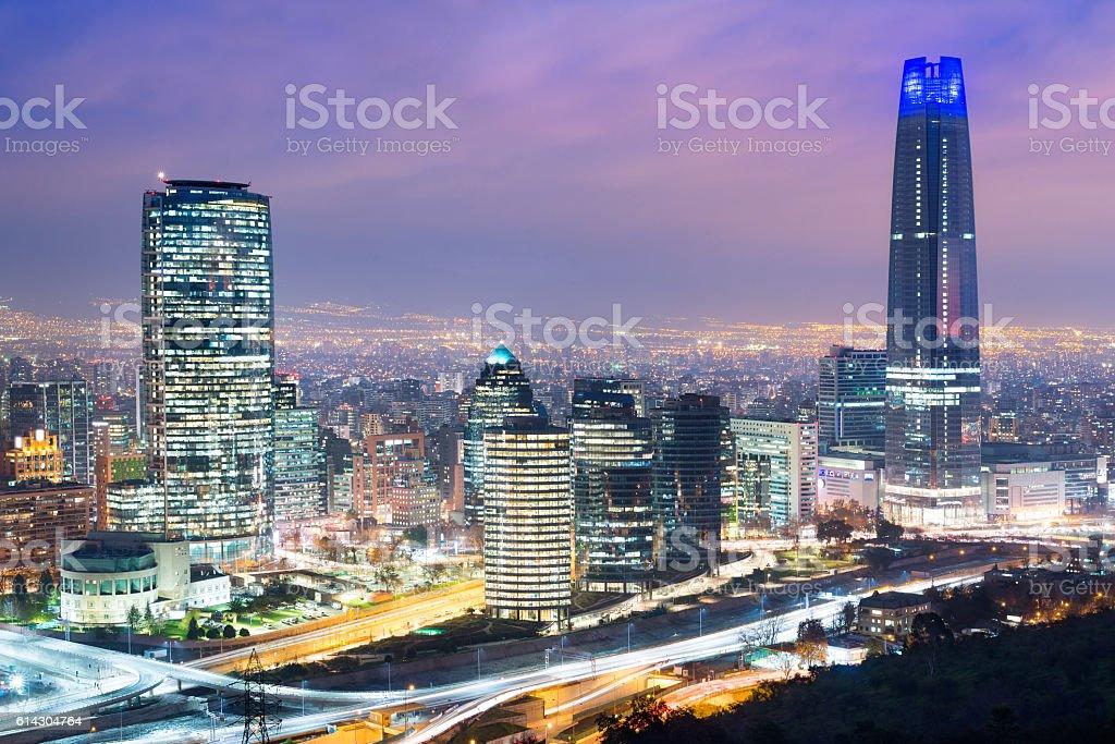 Skyline of Santiago de Chile stock photo