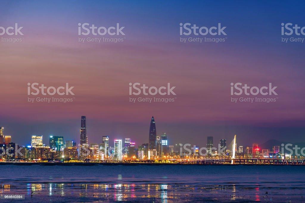 Skyline of Shenzhen city, China royalty-free stock photo