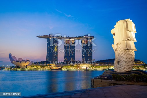 The Merlion is the official mascot of Singapore, depicted as a mythical creature with a lion's head and the body of a fish.