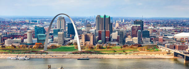 Skyline of St. Louis stock photo