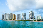 skyline of Sunny Isles Beach in the afternoon, Florida