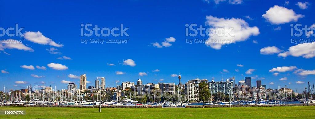 Skyline of Sydney New South Wales Australia stock photo