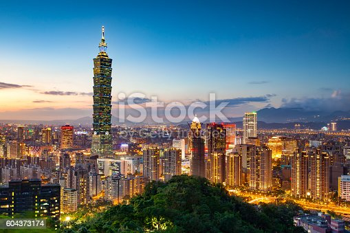 istock Skyline of Taipei city 604373174
