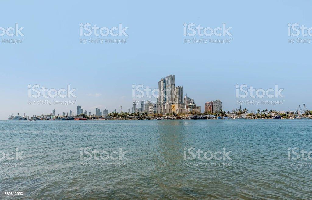 Horizonte de la ciudad de Cartagena de Indias, Colombia - foto de stock