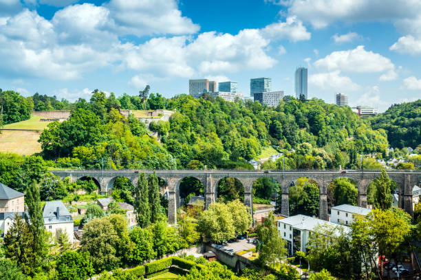 Skyline of the European Quarter, Luxembourg Luxembourg City - Luxembourg, Benelux, Europe, Kirchberg - Luxembourg, Luxembourg - Benelux benelux stock pictures, royalty-free photos & images