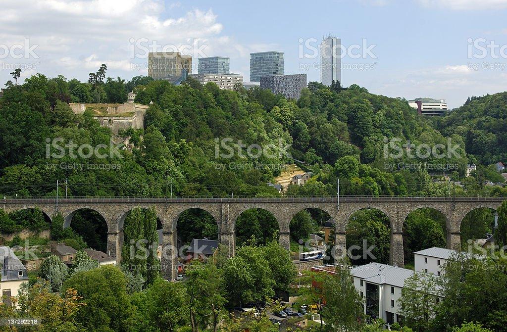 skyline of the European Quarter, Luxembourg stock photo