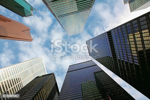 istock Skyline of the financial district 823909962