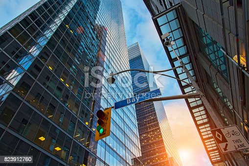 istock Skyline of the financial district 823912760