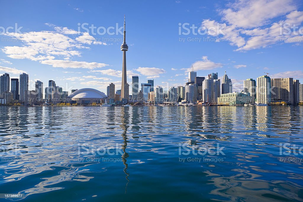Skyline of Toronto stock photo