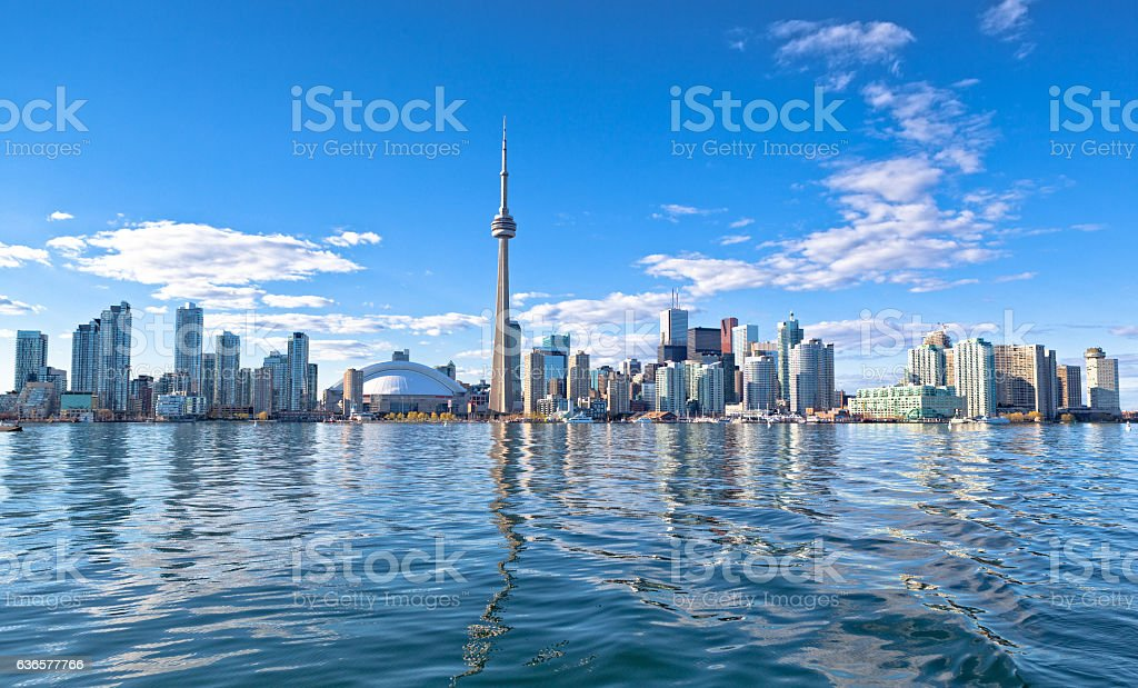 Skyline of Toronto stock photo