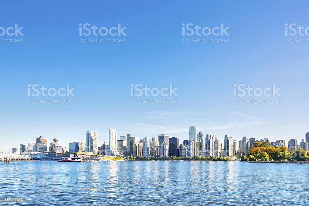 Skyline of Vancouver,Canada stock photo