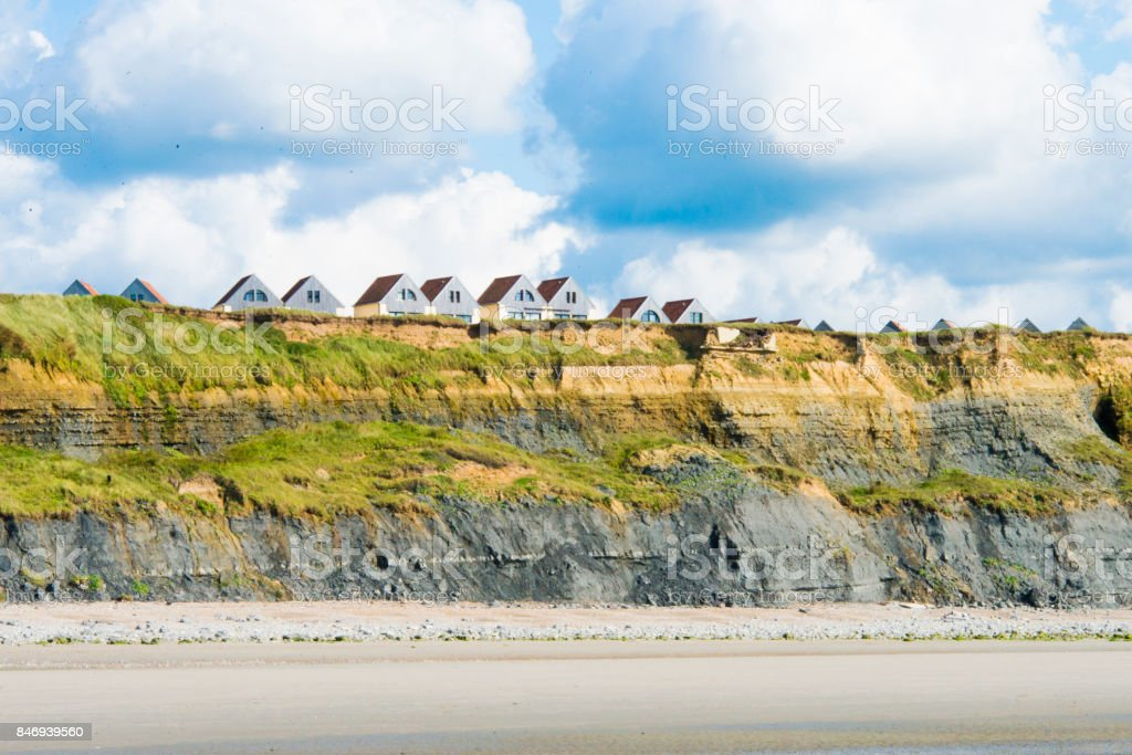 skyline of Wimereux at the opal coast in France stock photo