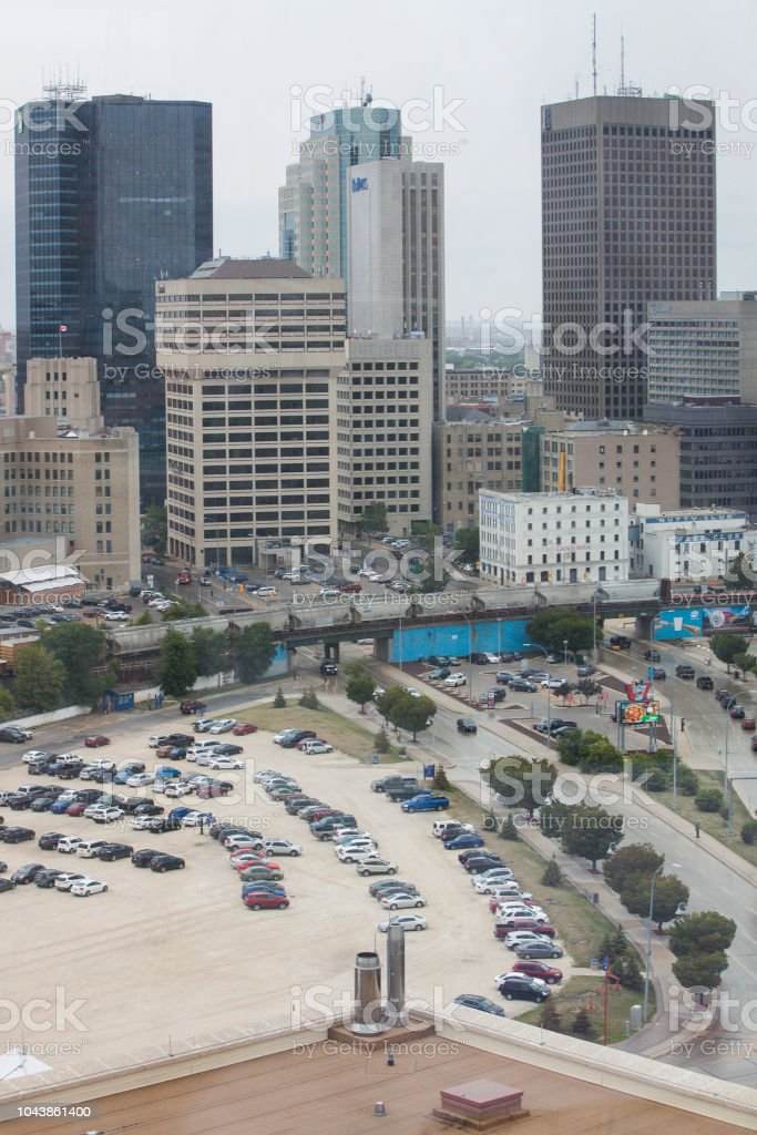 Skyline Of Winnipeg Manitoba Canada Stock Photo - Download Image Now