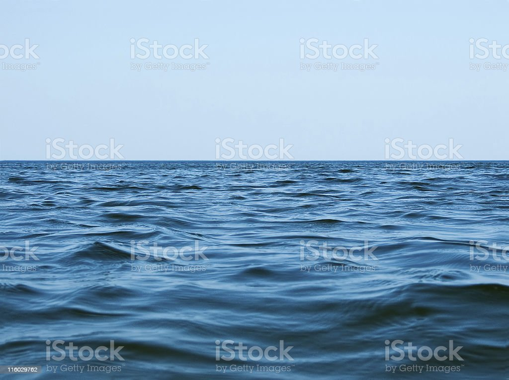 Skyline on the sea stock photo