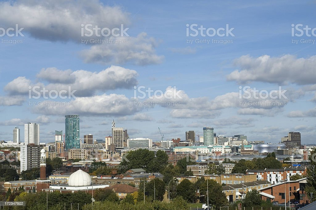 Skyline Panorama. Birmingham West Midlands stock photo