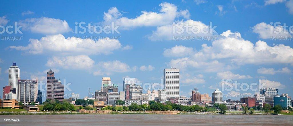 Skyline Panorama of Memphis, Tennessee stock photo