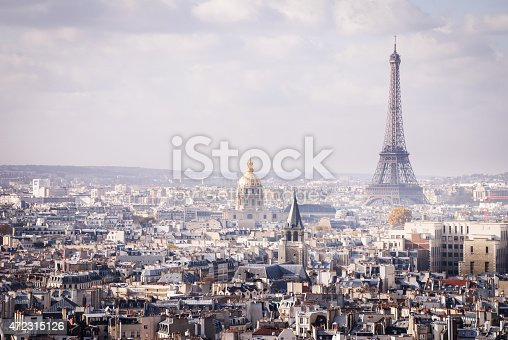Skyline Paris France and The Eiffel Tower