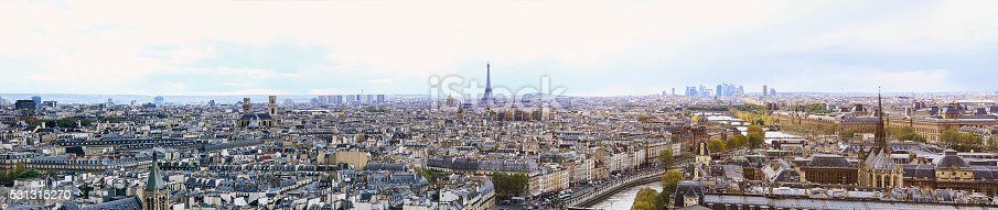 Skyline Paris France and The Eiffel Tower