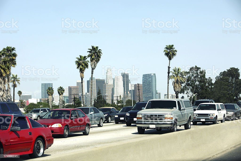 LA skyline royalty-free stock photo