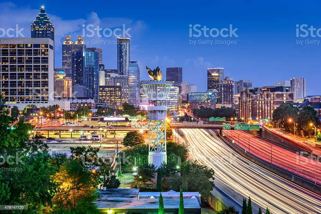 ATL Skyline stock photo