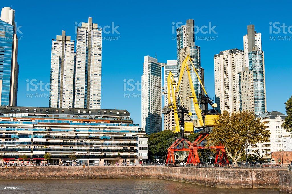 Skyline, Puerto Madero Buenos Aires stock photo