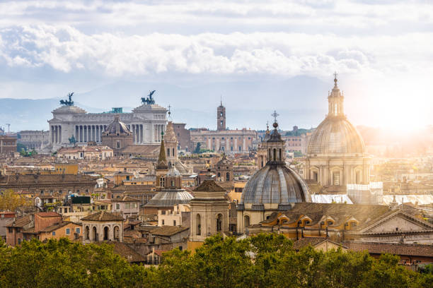 Skyline Rome Skyline Rome rome italy stock pictures, royalty-free photos & images