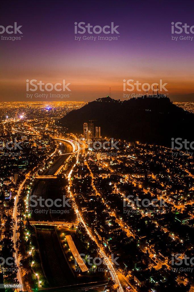 Skyline Santiago de Chile stock photo