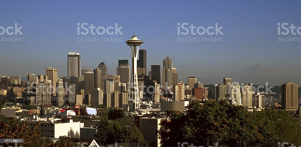 Skyline Seattle royalty-free stock photo