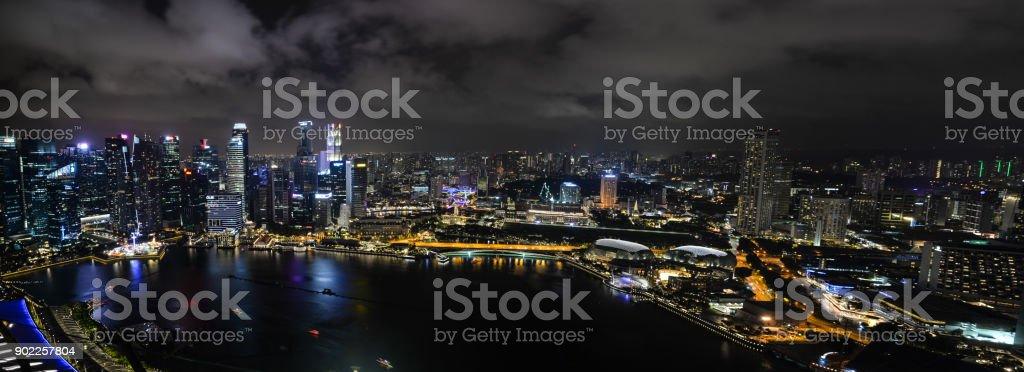 Skyline Singapore stock photo