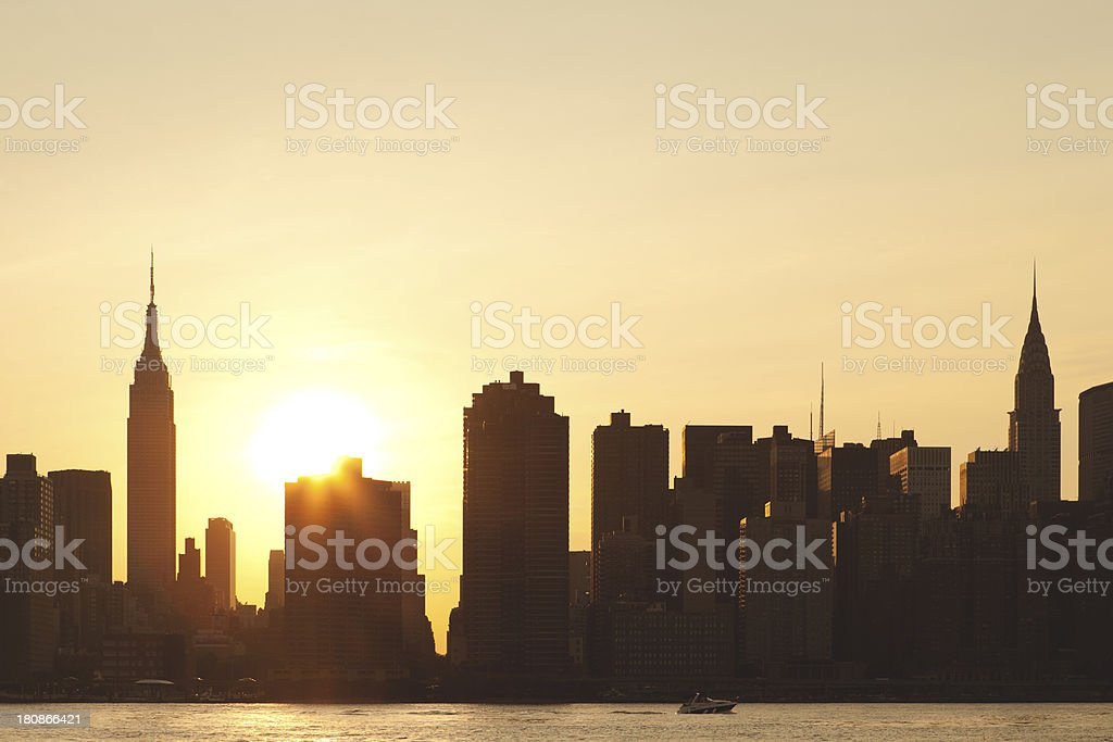 Skyline Sunset royalty-free stock photo