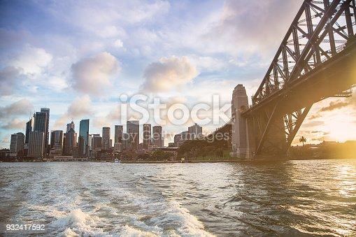 cityscape,Sydney,harbour,view,sunset