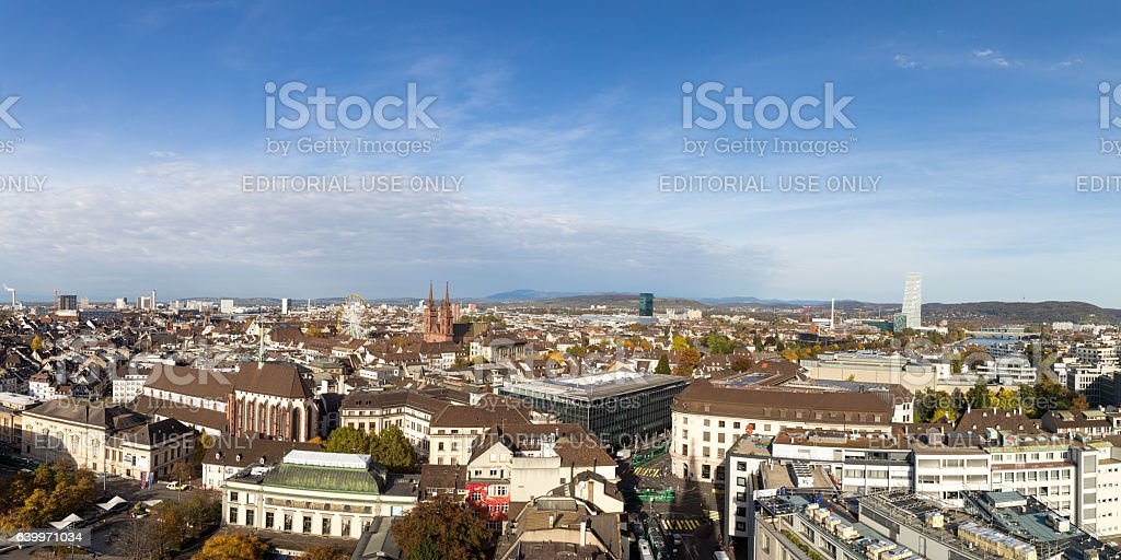 Skyline view of Basel, Switzerland – Foto