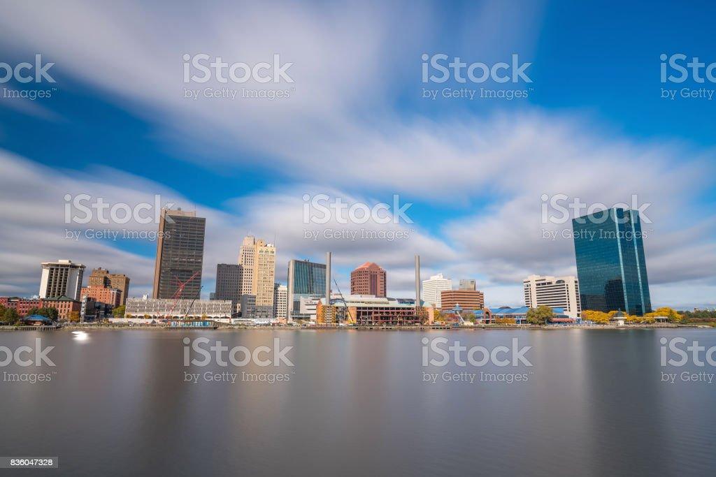 Skyline view of downtown Toledo, Ohio stock photo