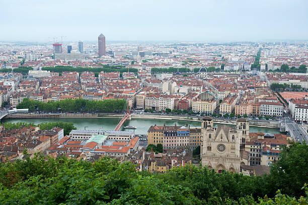 Vue sur la ville de Lyon de Notre-Dame de Fourvière - Photo