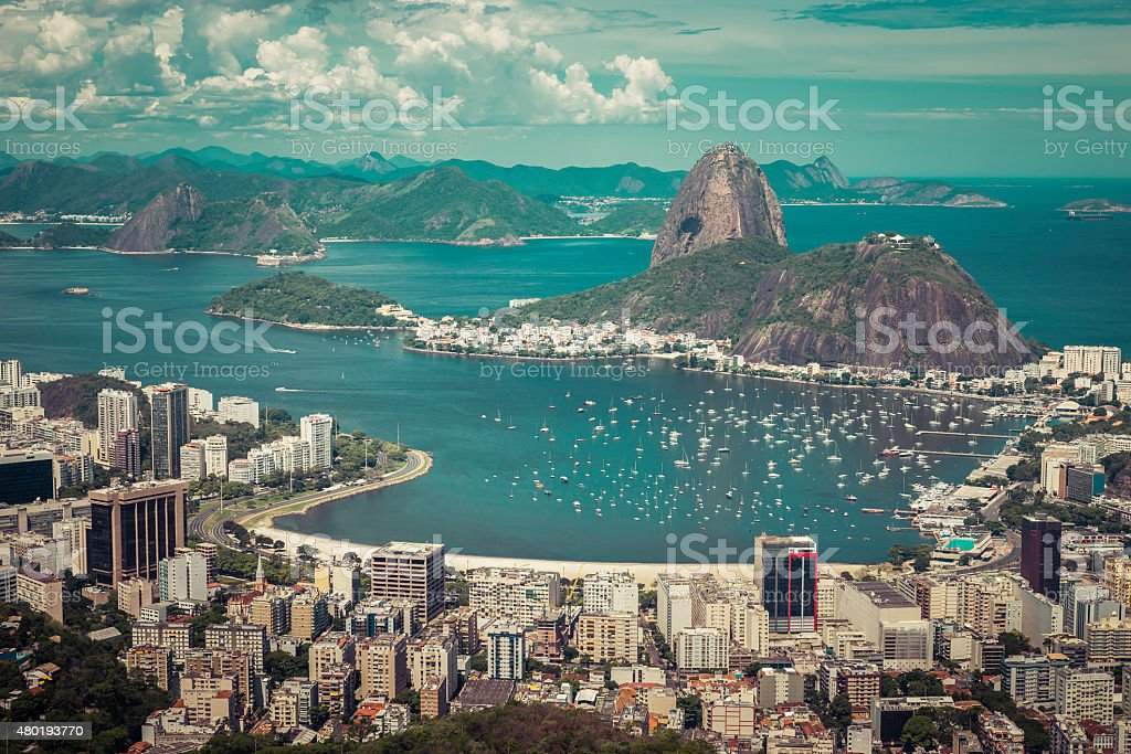 Skyline view of Rio de Janeiro, Brazil stock photo