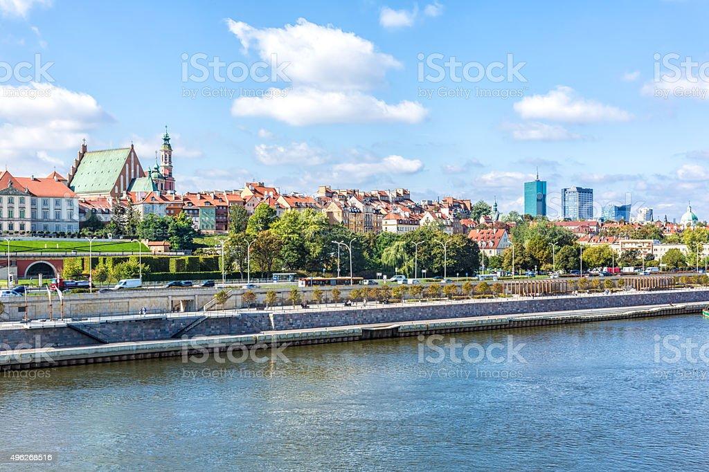 Skyline Warsaw, Poland stock photo